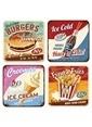 Nostalgic Art American Dinner Bardak Altlığı 4Lü Renkli